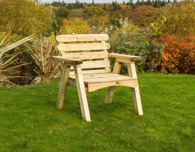 NEW ABBEY CHAIR WOODEN PRESSURE TREATED (0.68 x 0.73 x 0.73m)