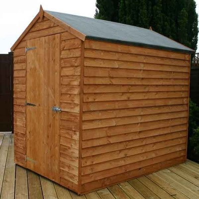 7 x 5 Windowless Overlap Apex Wooden Garden Shed