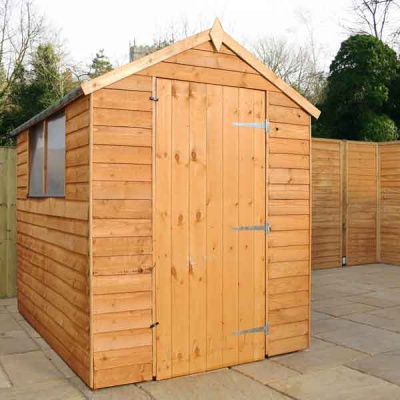 7 x 5 Overlap Apex Wooden Garden Shed