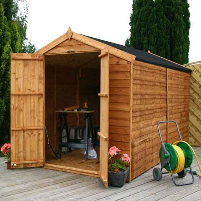 10 x 6 Windowless Overlap Apex Wooden  Garden Shed