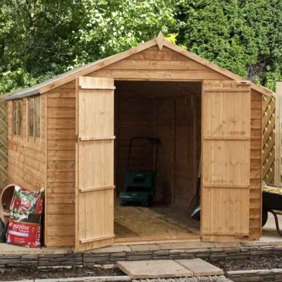 10 x 8 Overlap Apex Wooden Garden Shed