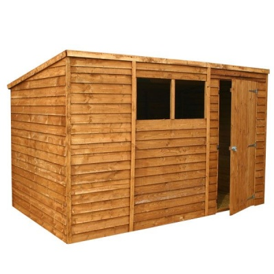 10 x 6 Pent Overlap Wooden Garden Shed with Windows
