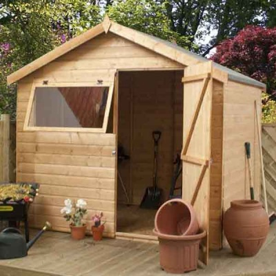 8 x 6 Shiplap Tongue & Groove Apex Wooden Garden Sheds