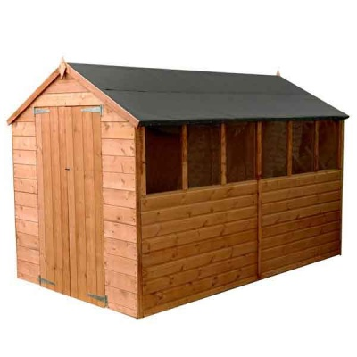 10 x 6 Shiplap Tongue & Groove Apex Wooden Garden Sheds