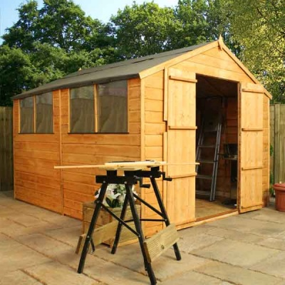 10 x 8 Shiplap Tongue & Groove Apex Wooden Garden Sheds