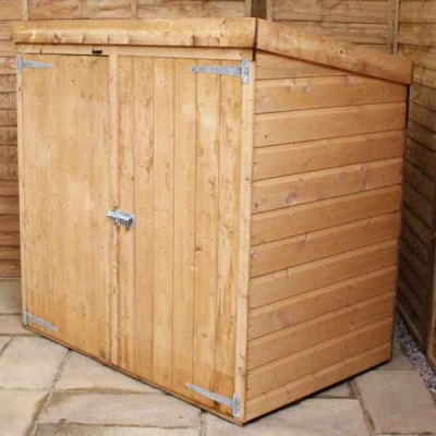 5 x 3 Pressure Treated Wooden Garden Mower Store Tongue & Groove Clad