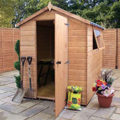 7 x 5 Shiplap Full Tongue & Groove Apex Wooden Garden Sheds