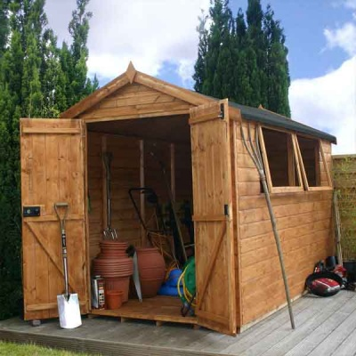 10 x 6 Shiplap Full Tongue & Groove Apex Wooden Garden Sheds