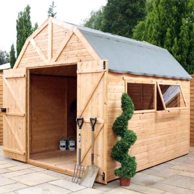 10 x 8 Shiplap Full Tongue & Groove Wooden Dutch Barn Garden Sheds