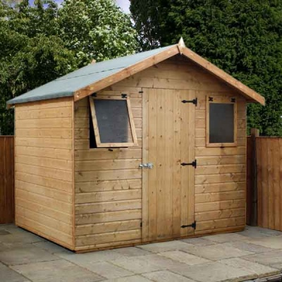 8 x 6 Shiplap Full Tongue & Groove Apex Wooden Garden Sheds