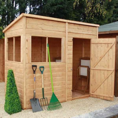 8 x 4 Wooden Pent Tongue and Groove Garden Shed
