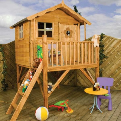 7 x 5 Tulip Tower Playhouse Childrens Outdoor Wooden Play House Tower