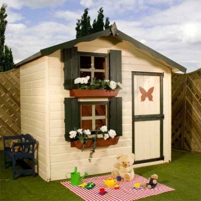 7 x 5 Double Storey Playhouse Childs Wooden Play House