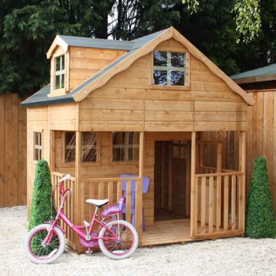 7 x 7 Double Storey Playhouse with Dorma Window