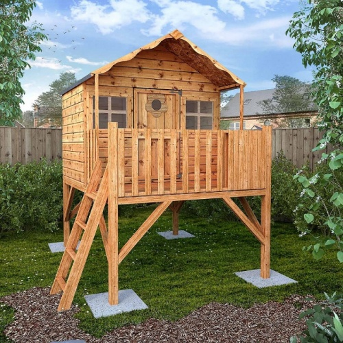 8 x 7 Honeysuckle Tower Playhouse Childrens Outdoor Wooden Play House