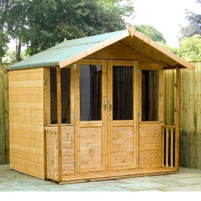 7 x 7 Traditional Wooden Garden Summerhouse