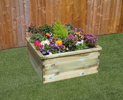 NEW SLEEPER RAISED BED WOODEN PRESSURE TREATED (0.9 x 0.9 x 0.45m)