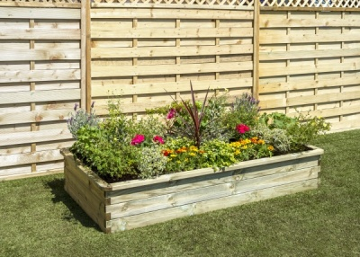 NEW SLEEPER RAISED BED WOODEN PRESSURE TREATED (1.8 x 0.9 x 0.3 m)