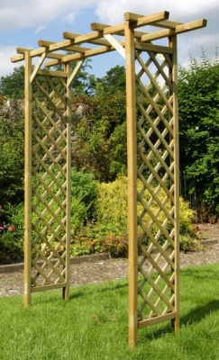 NEW SUNSET ARCH WOODEN PRESSURE TREATED (1.6 x 0.55 x 2.1m)