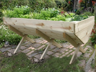 NEW VEG BED 2M WOODEN PRESSURE TREATED (2 x 0.75 x 0.8m)