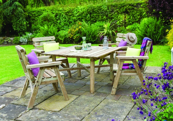 NEW ABBEY SQUARE TABLE & CHAIR SET WOODEN PRESSURE TREATED