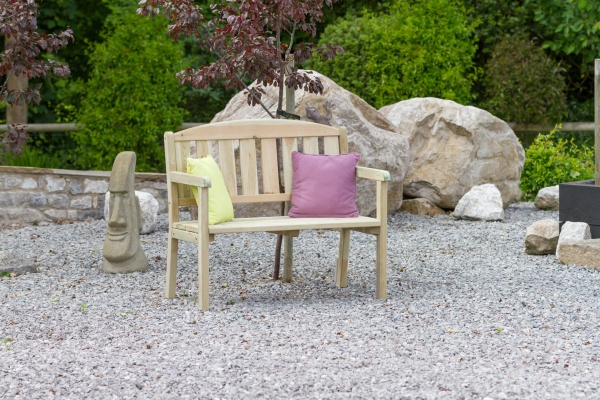 NEW CAROLINE BENCH 4ft WOODEN PRESSURE TREATED (1.2 x 0.5 x 0.8m)