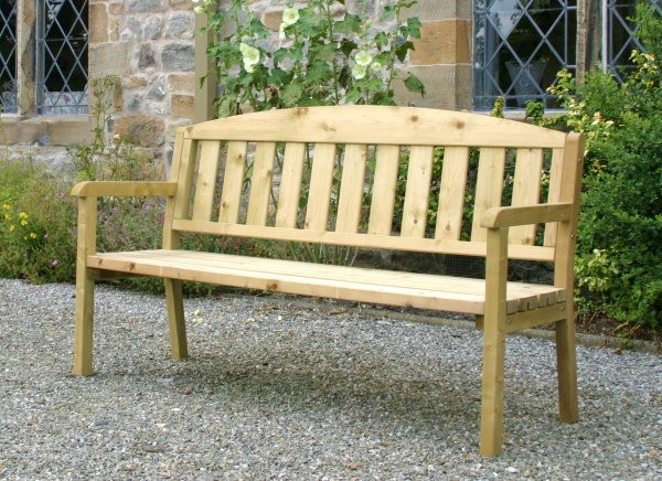 NEW CAROLINE BENCH 5ft WOODEN PRESSURE TREATED (1.7 x 0.5 x 0.8m)