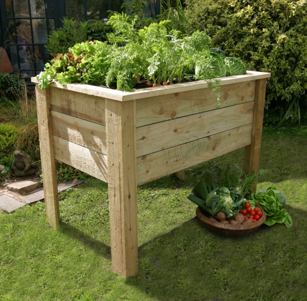 NEW DEEP ROOT PLANTER 1M WOODEN PRESSURE TREATED (1 x 0.7 x 0.8m)