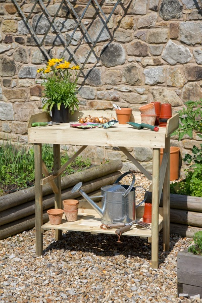 NEW ECONOMY POTTING TABLE WOODEN PRESSURE TREATED (0.9 x 0.45 x 0.91m)
