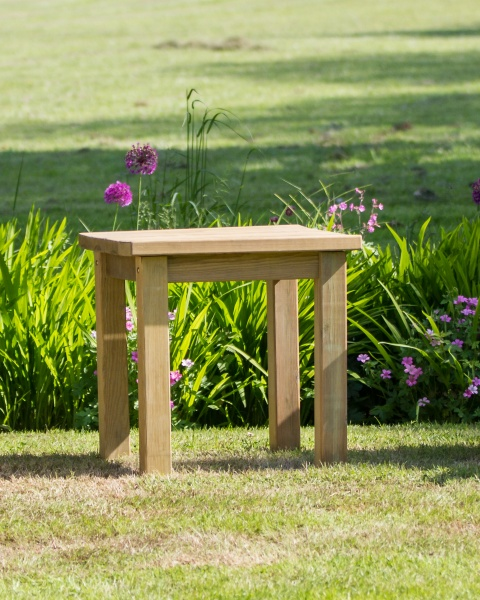 NEW EMILY SIDE TABLE WOODEN PRESSURE TREATED (0.6 x 0.6 x 0.6m)