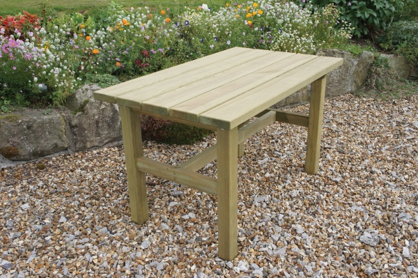 NEW EMILY TABLE WOODEN PRESSURE TREATED (1.6 x 0.76 x 0.76m)