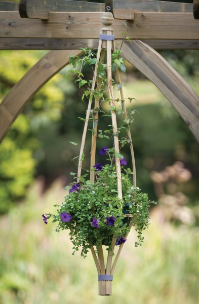 NEW HANGING FLOWERBELL WOODEN PRESSURE TREATED (0.36 x 0.36 x 1.5 m)