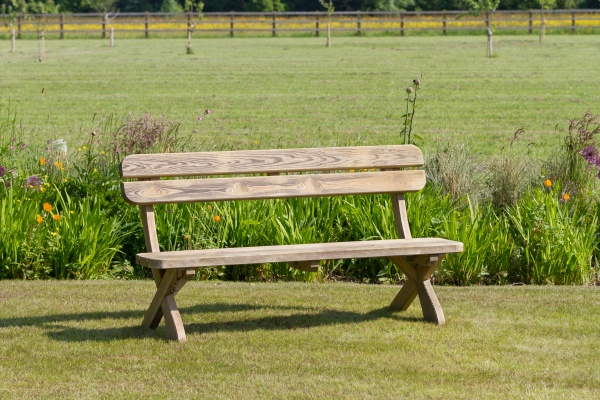 NEW HARRIET BENCH WOODEN PRESSURE TREATED (1.6 x 0.62 x 0.845m)