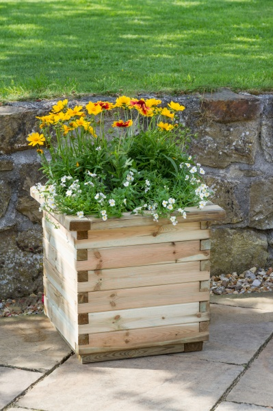 NEW ISABEL PLANTER (planter only) WOODEN PRESSURE TREATED (0.5 x 0.5 x 0.5m)