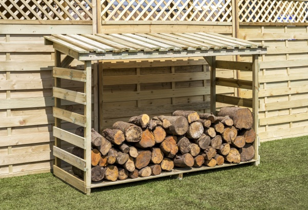 NEW LARGE LOG STORE WOODEN PRESSURE TREATED (1.84 x 0.7 x 1.3m)