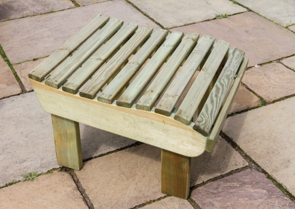 NEW LILY FOOT STOOL WOODEN PRESSURE TREATED (0.51 x 0.59 x 0.38m)