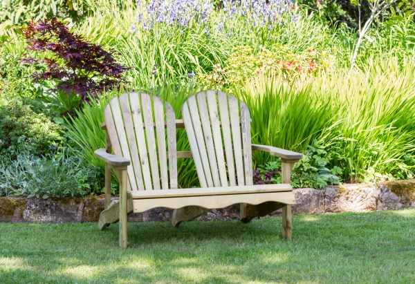 NEW LILY RELAX 2 SEATER BENCH WOODEN PRESSURE TREATED (1.22 x 0.93 x 0.92m)