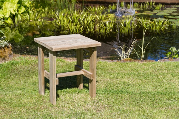 NEW LILY SIDE TABLE WOODEN PRESSURE TREATED (0.47 x 0.47 x 0.55m)
