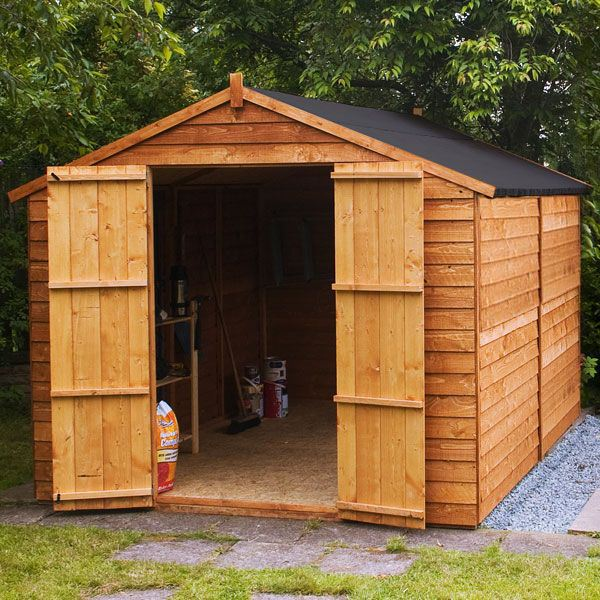 10 x 8 Windowless Overlap Apex Wooden Garden Shed