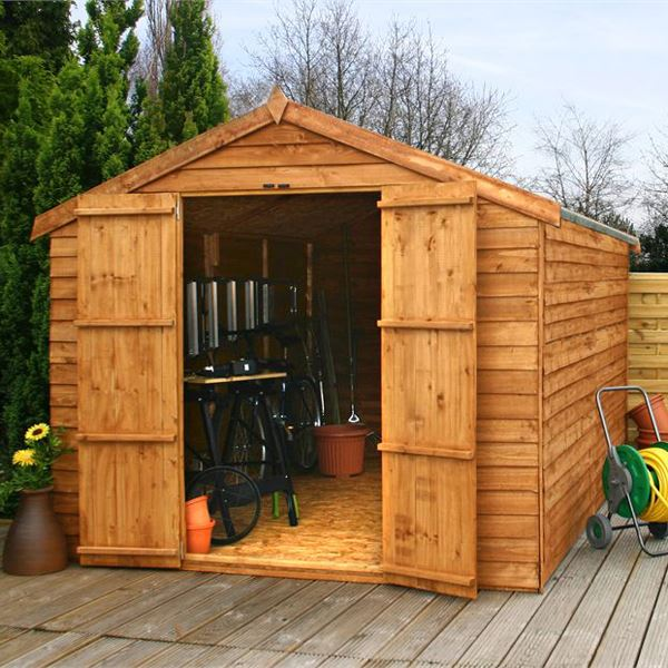 12 x 8 Windowless Overlap Apex Wooden Garden Shed