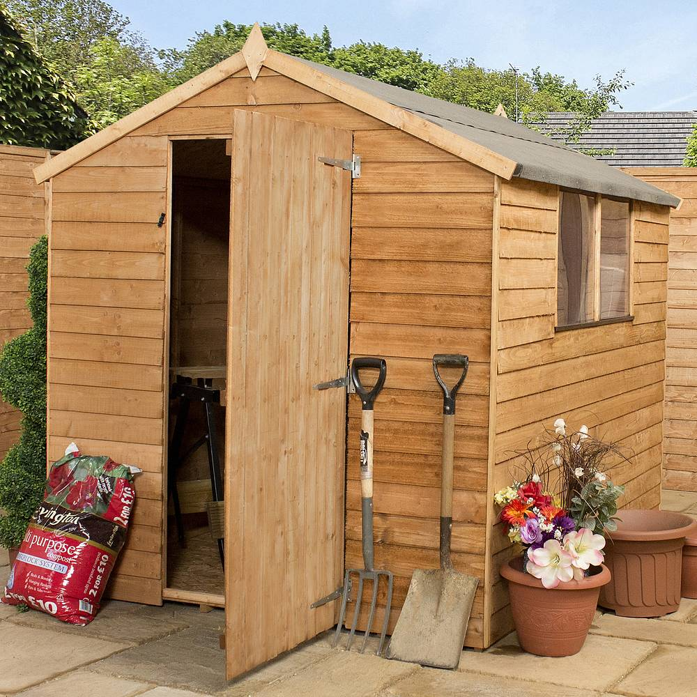 8 x 6 Budget Wooden Overlap Apex Garden Shed