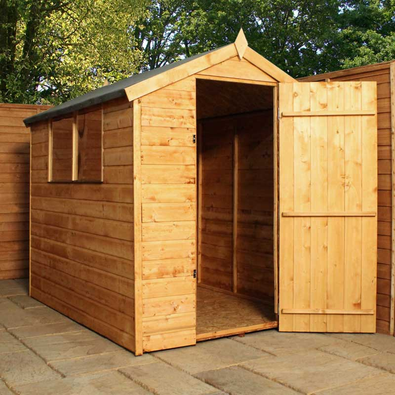 6 x 4 Wooden Apex Tongue and Groove Garden Shed