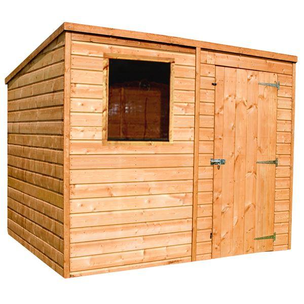 8 x 6 shiplap tongue groove pent wooden garden sheds - Garden Sheds 6 X 2