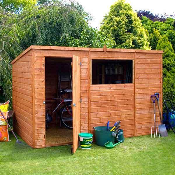 10 x 6 shiplap tongue groove pent wooden garden sheds
