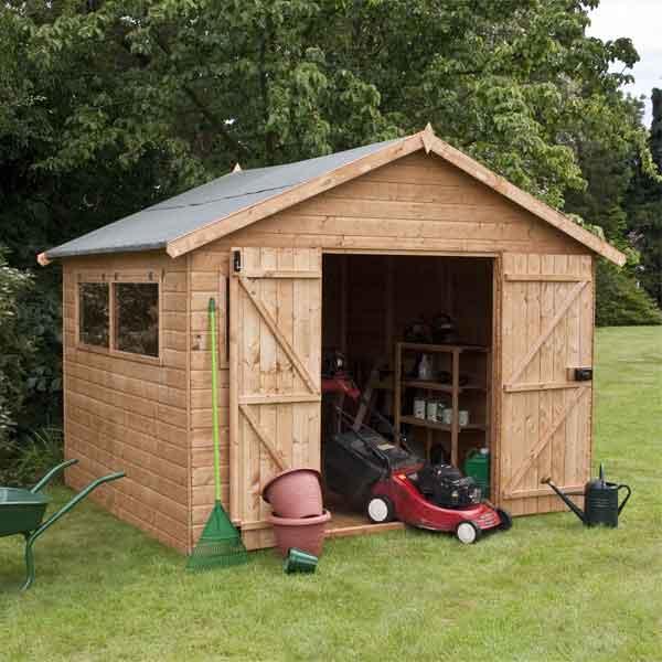 12 X 10 Shiplap Full Tongue U0026 Groove Wooden Garden Workshop Building