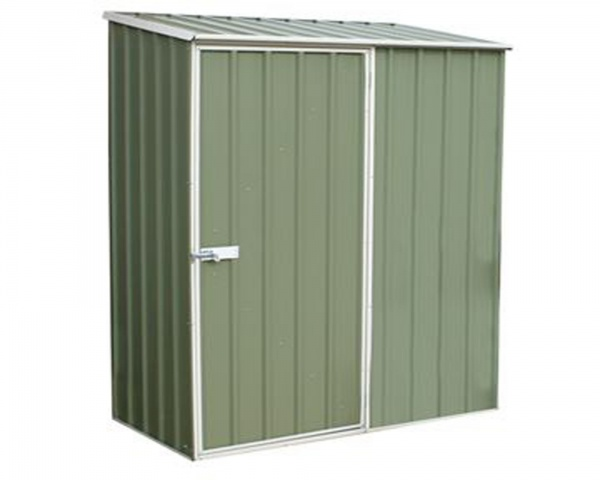 5 x 3 Absco Space Saver Metal Garden Sheds 1.52m x 0.78m Pale Eucalyptus Colour