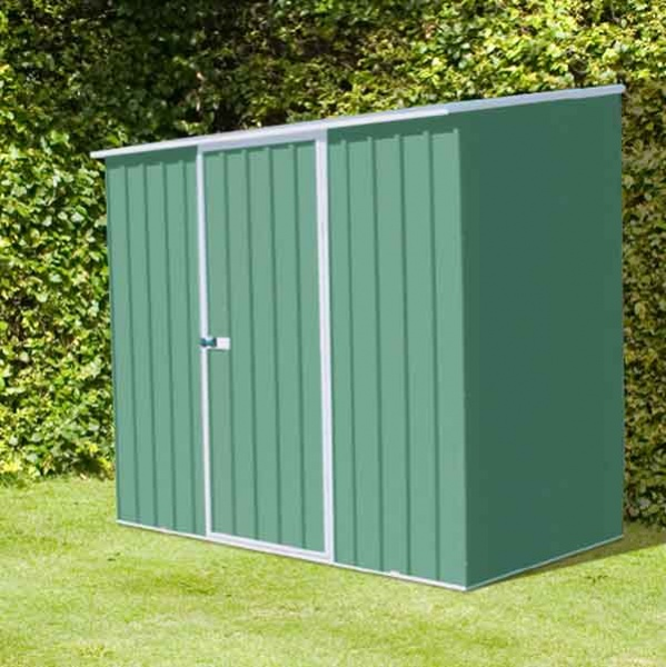 Charmant 7 X 3 Absco Space Saver Metal Garden Sheds 2.26m X 0.78m Pale Eucalyptus  Colour
