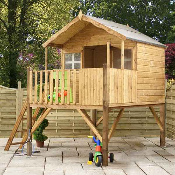 Great value sheds summerhouses log cabins playhouses for Wooden wendy house ideas