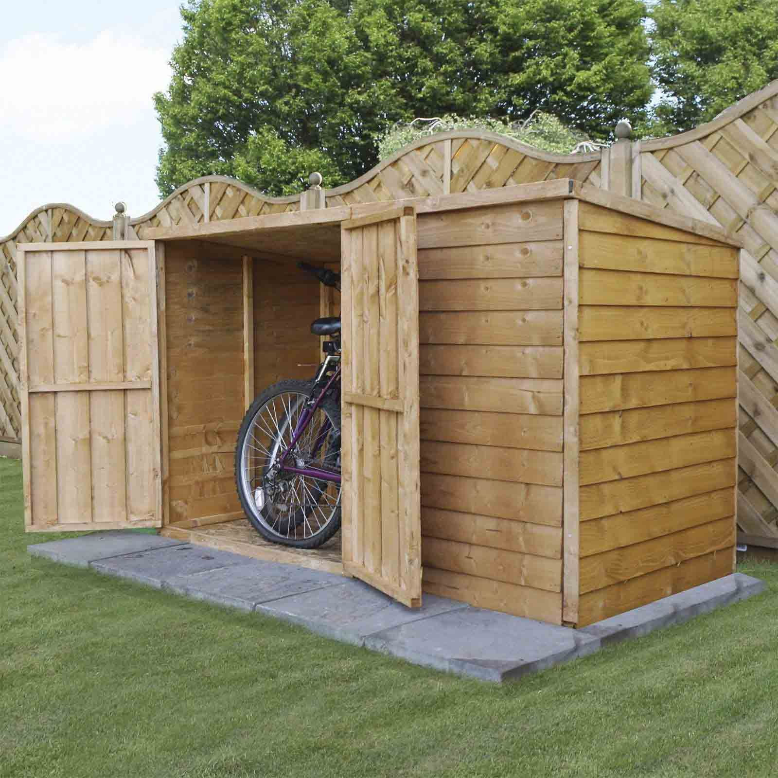 6 x 3 Wooden Garden Pent Bike Storage