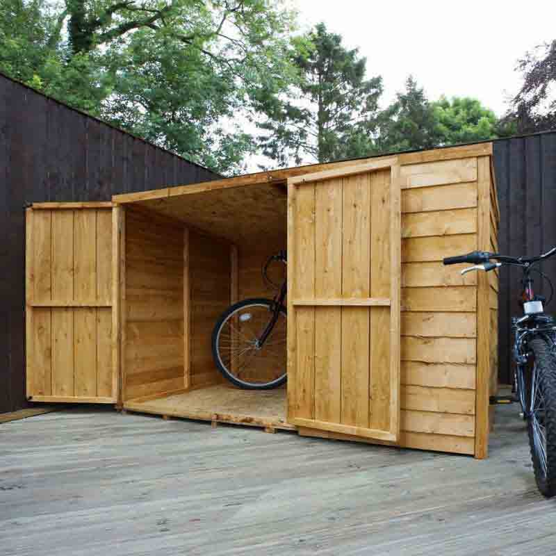 6 x 4 Wooden Garden Pent Bike Storage